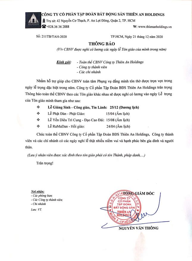 202012230243 thien an holdings thong bao nghi le